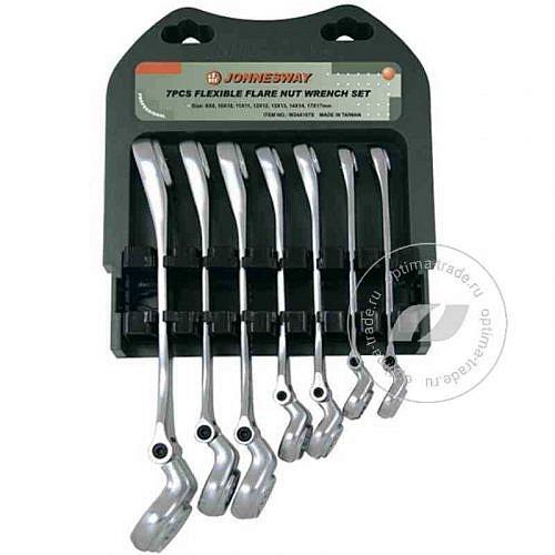 Набор комбинированных разрезных ключей с гибкой головкой 7 предметов