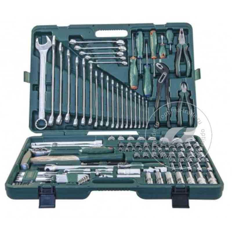 """Jonnesway S04H524127S - универсальный набор инструмента 1/2"""" и 1/4"""" DR, 127 пр."""