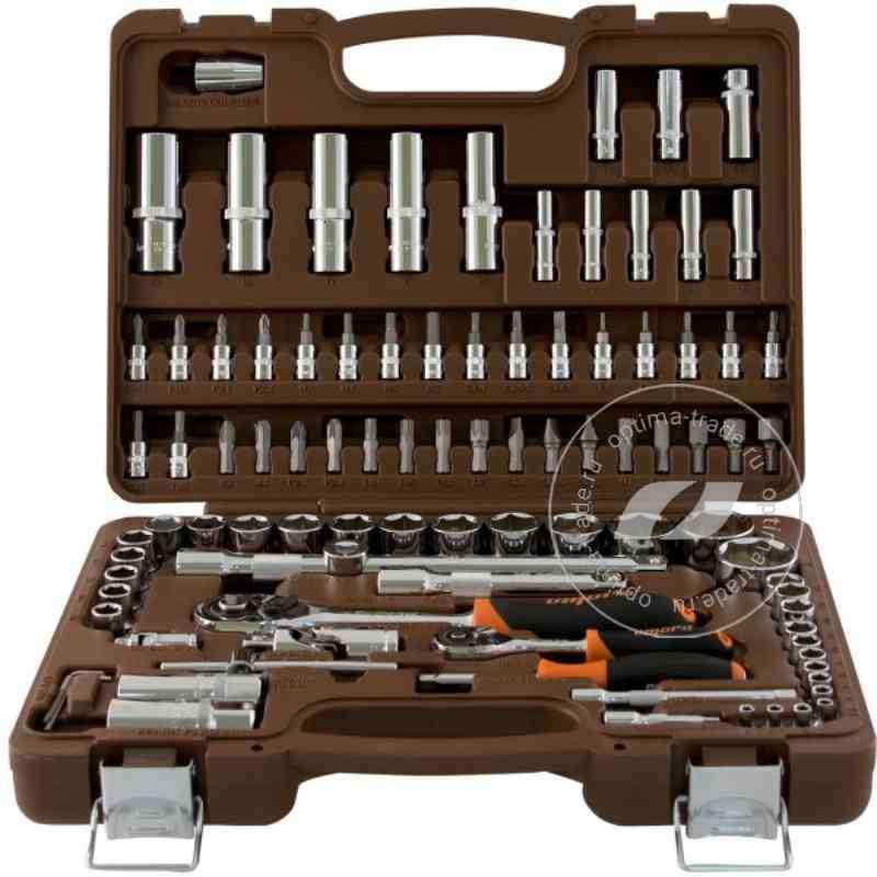 """Ombra OMT94S - набор инструмента: торцевые головки 1/2""""DR, 1/4""""DR (4-32 мм) + аксессуары к ним, 94 предмета"""