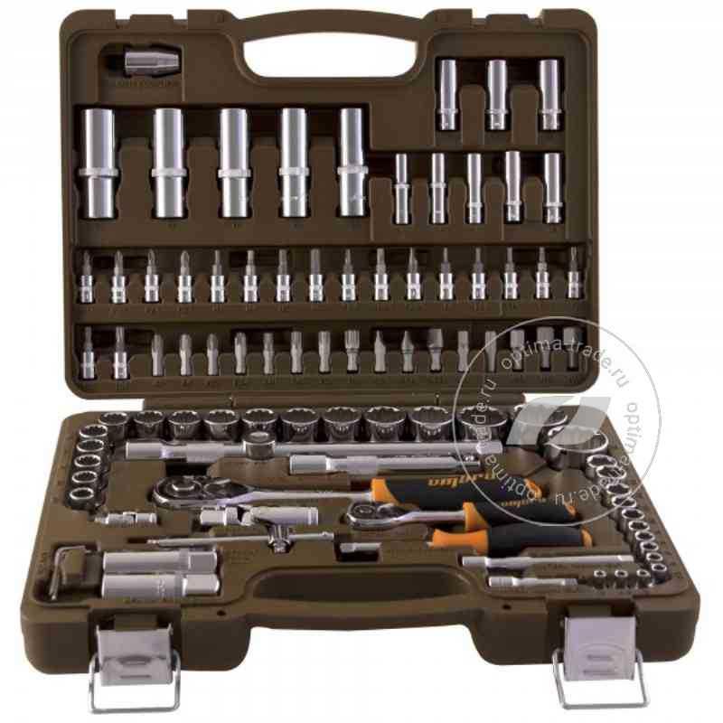"""Ombra OMT94S12 - набор инструмента, 1/2""""DR и 1/4""""DR, с 12-гранными головками 94 предмета"""