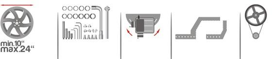"""Стенд для правки литых и кованных стальных дисков, ø10-22"""" - TITAN 1500S (380 В)"""