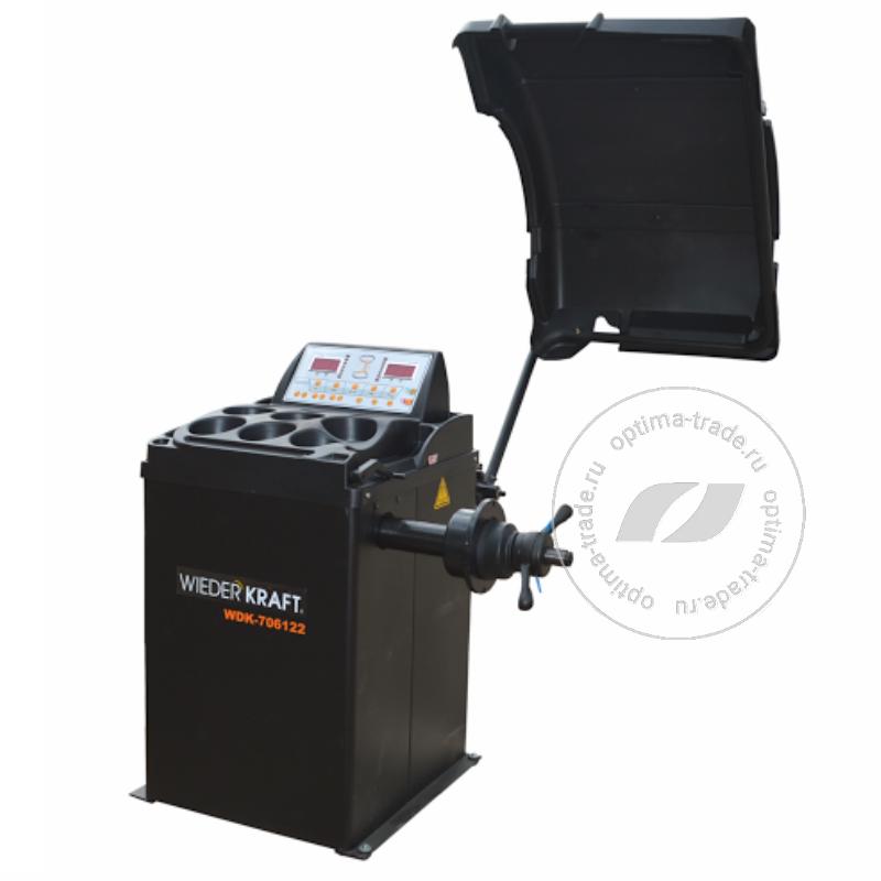 WiederKraft WDK-706122 - балансировочный станок, ручной ввод параметров, для дисков ø10″-24″, встроеный дисплей