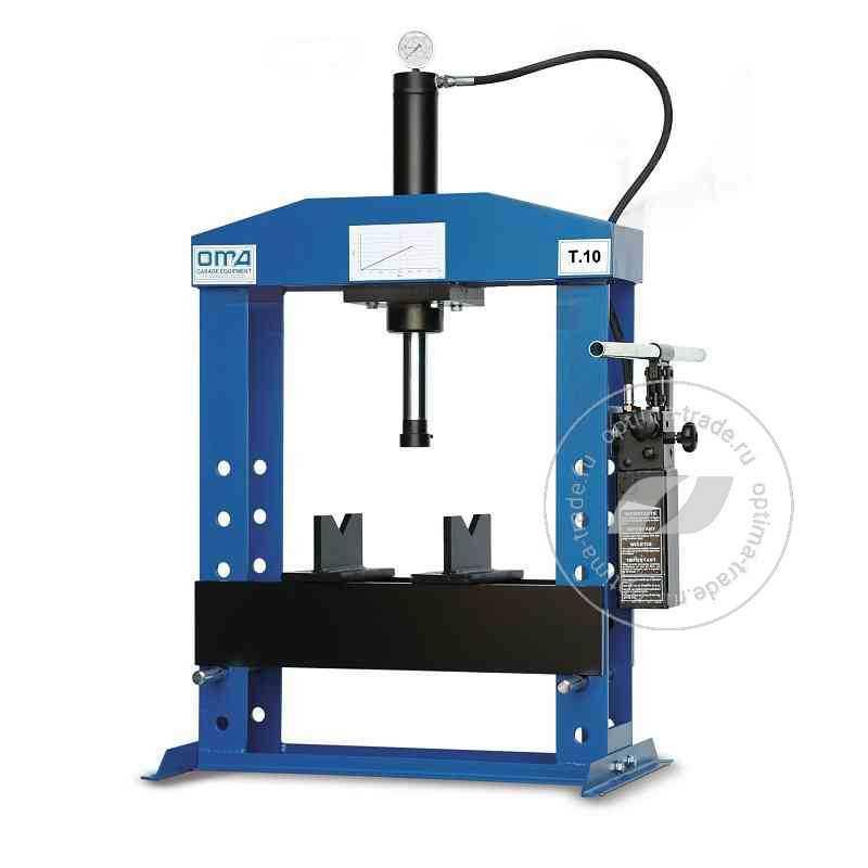 Пресс настольный гидравлический усилие 10 т. - Werther PR10В/PM (OMA 650B)