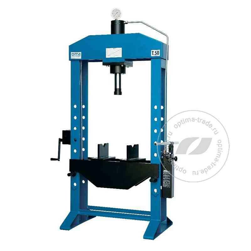 Пресс напольный гидравлический усилие 50 т. - Werther PR50/PM (OMA658)