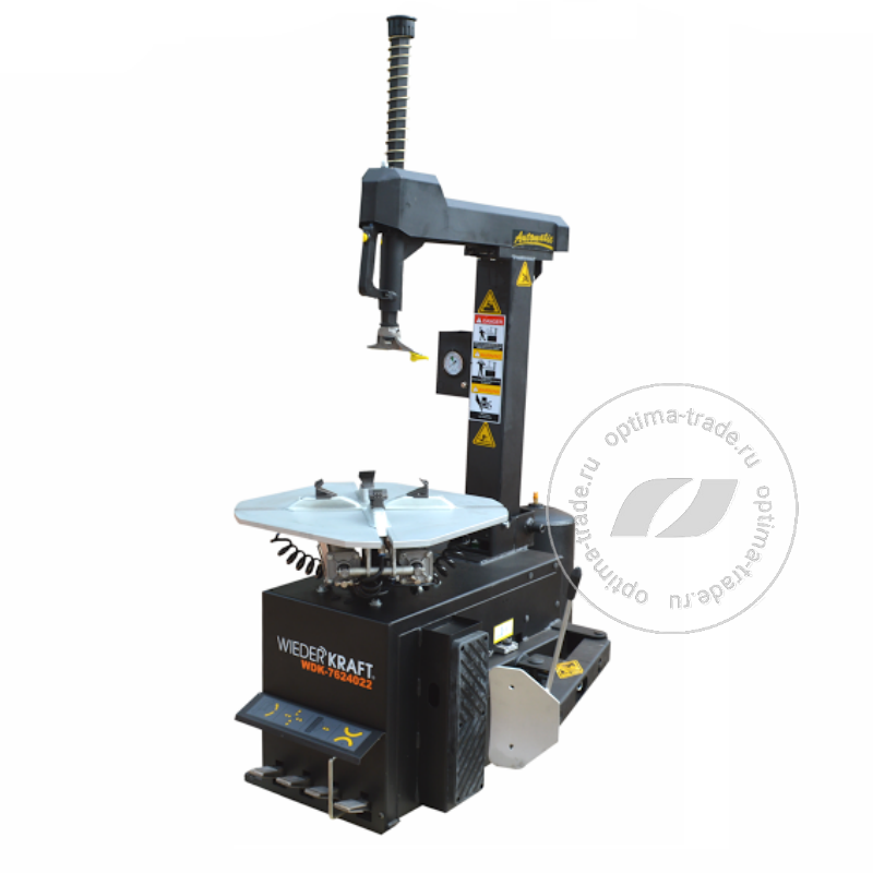 WiederKraft WDK-7624022 - шиномонтажный станок , автомат, для дисков ø10-24″, 220 В, со взрывной накачкой