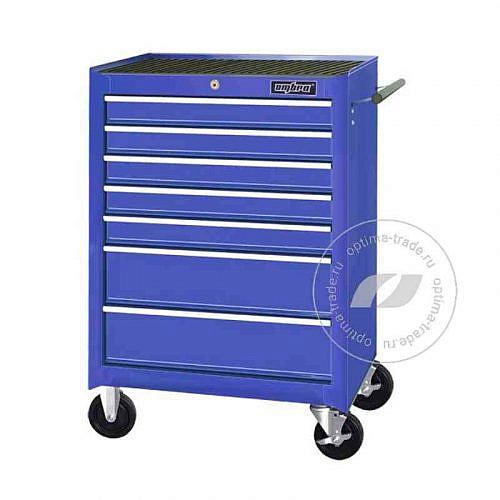 Тележка инструментальная c 7-ю ящиками - Ombra OTT47B(синяя)