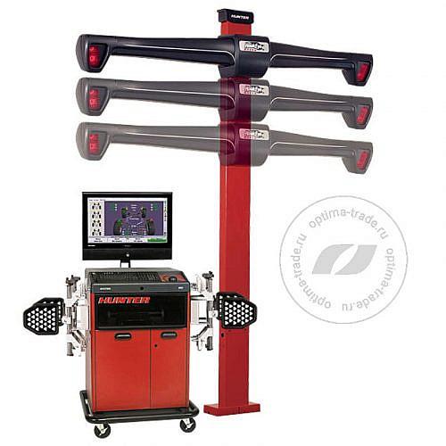 Hunter WA340/32LE-421LZ2 - 3D стенд, мобильный кабинет, 4 камеры, эл./механический лифт, напольное исполнение