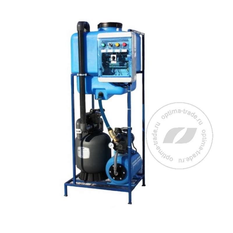 Система очистки воды АРОС 0,8 на один пост (поток 1000 л/ч, бак 130 л, 220 В, 2,0 кВт)