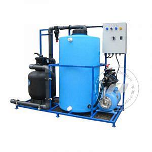 Система очистки воды АРОС 1 на один пост (поток 1000 л/ч, бак 130 л, 220 В, 2,0 кВт)