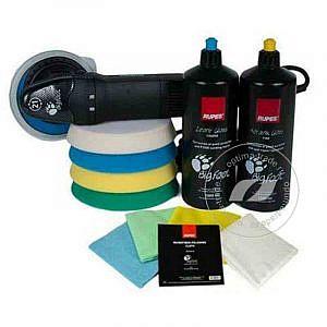 RUPES LHR 21ES/KIT - набор для полировки: полировальная машинка, диски - 4 шт., пасты - 2 шт., салфетки - 4 шт.