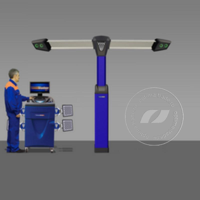 Техно Вектор 7 V 7204 T P - 3D стенд, мобильный кабинет, 4 камеры, напольное исполнение, серия Premium