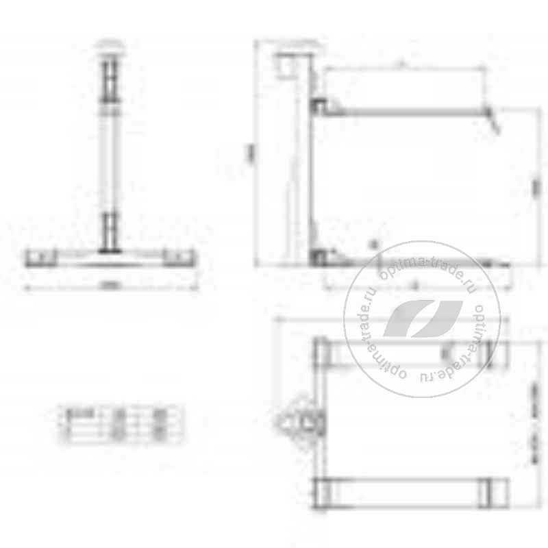 WERTHER MONOLIFT800 - одностоечный электромеханический подъемник, г/п - 800 кг.