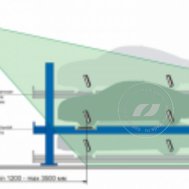 4-х камерная конфигурация позволяет использование подъемника по всей его высоте.