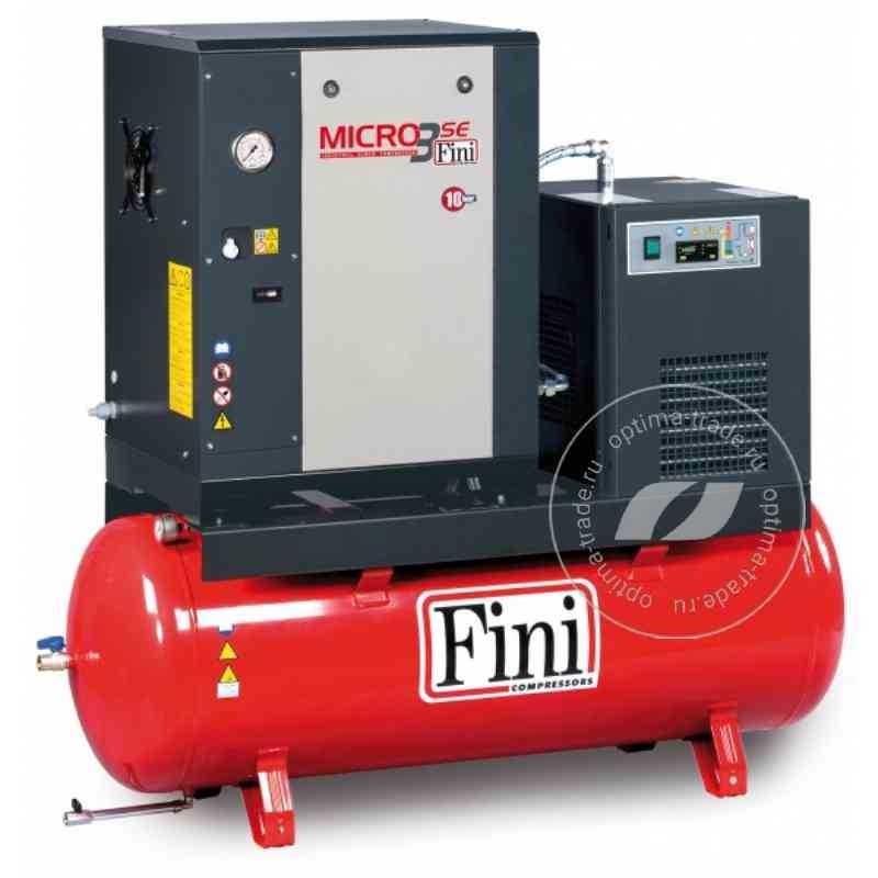 ET MICRO 510 SE-200 ES - компрессор с осушителем, ресивер 200 л., 4 кВт, 485 л/мин, 380 В