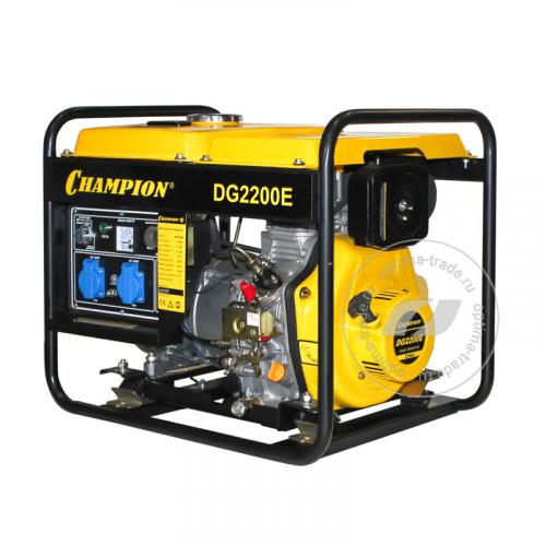 Champion DG2200E- генератор дизельный, мощностью - 1,7/2,0 кВт, бак - 11,5 л., вес - 66,5 кг