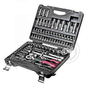 """JTC-H096B - универсальный набор инструмента, 1/2"""" и 1/4""""DR , 96 предметов"""