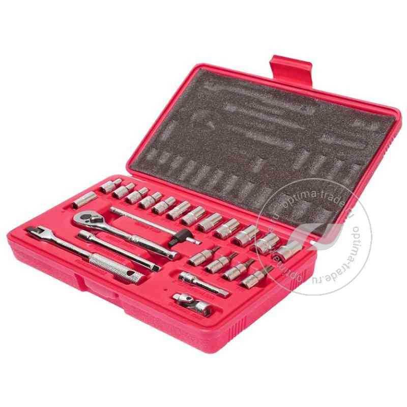 """JTC-H223S - универсальный набор инструмента, 1/4""""DR , 23 предмета"""