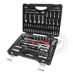 """JTC-S110B-B72 - универсальный набор инструмента, 1/2"""" и 1/4""""DR , 110 предметов"""