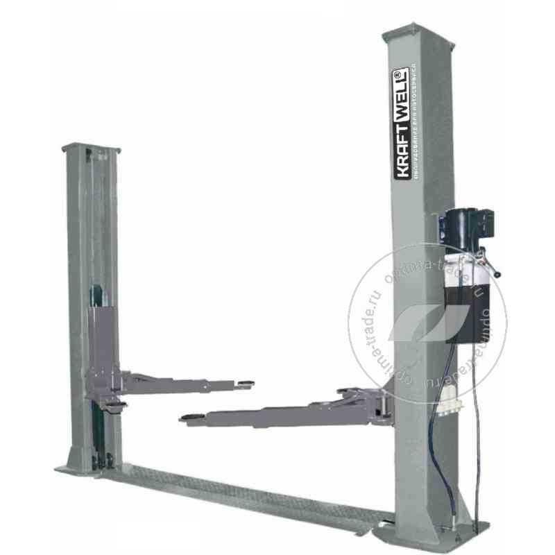 KraftWell KRW5.5ML - двухстоечный подъемник с нижней синхронизацией, г/п 5.5 тонны