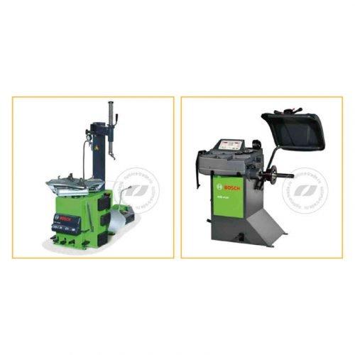 Bosch TCE 4220 и WBE 4120 - комплект станков для шиномонтажа и балансировки колес, ø10-23″