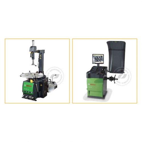 Bosch TCE 4405-22 и WBE 4400 - комплект станков для шиномонтажа и балансировки колес, ø10-24″