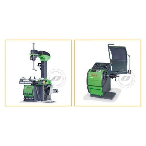 Bosch TCE 4430-24 и WBE 4230 - комплект станков для шиномонтажа и балансировки колес, ø12-28″