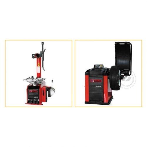Red Line TCR26IT и WBR200 - комплект станков для шиномонтажа и балансировки колес, ø10-24″