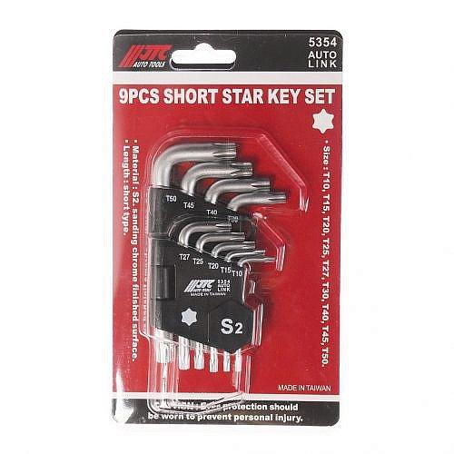 Набор ключей TORX T10-Т50 Г-образных 9 предметов JTC-5354