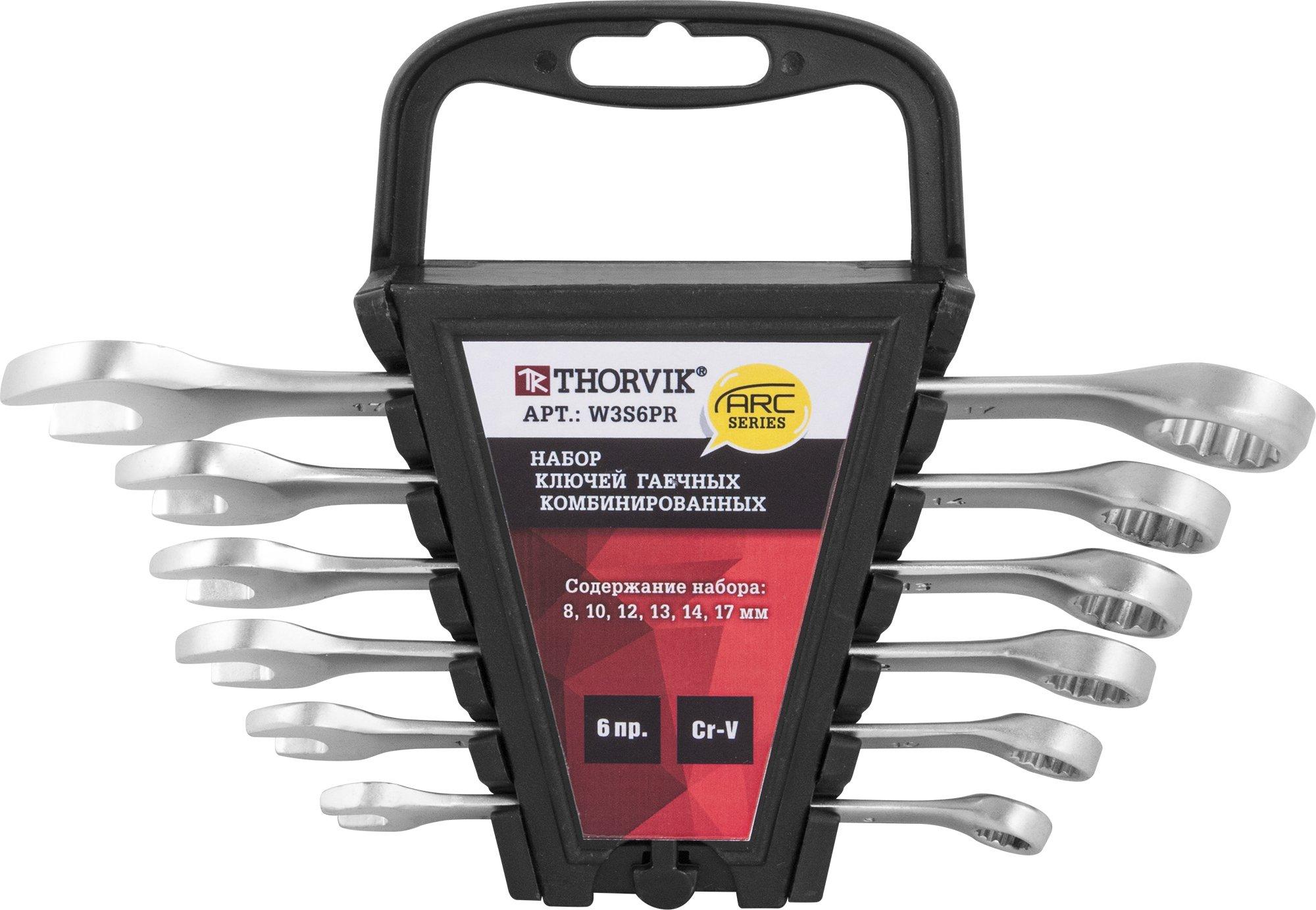 Набор ключей комбинированных на пластиковом держателе 8-17 мм, 6 предметов Thorvik THK-8786