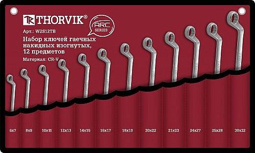 Набор ключей накидных в сумке 6-32 мм, 12 предметов Thorvik THK-8862
