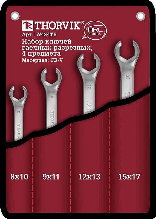 Набор ключей разрезных в сумке 8-17 мм, 4 предмета Thorvik THK-8887
