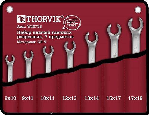 Набор ключей разрезных в сумке 8-19 мм, 7 предметов Thorvik THK-8888
