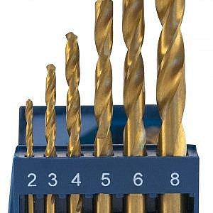 Наборы - сверла спиральные по металлу HSS TiN