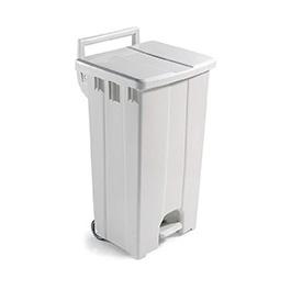 Контейнер пластиковый Filmop с педалью (бежевый, 90 литров )