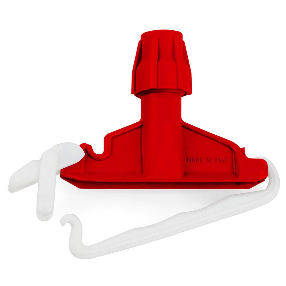 Держатель пластиковый Filmop для швабры с крепежным зажимом (красный)