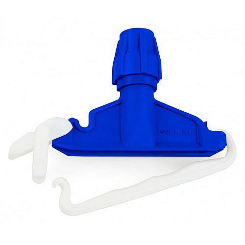 Держатель пластиковый Filmop для швабры с крепежным зажимом (синий)