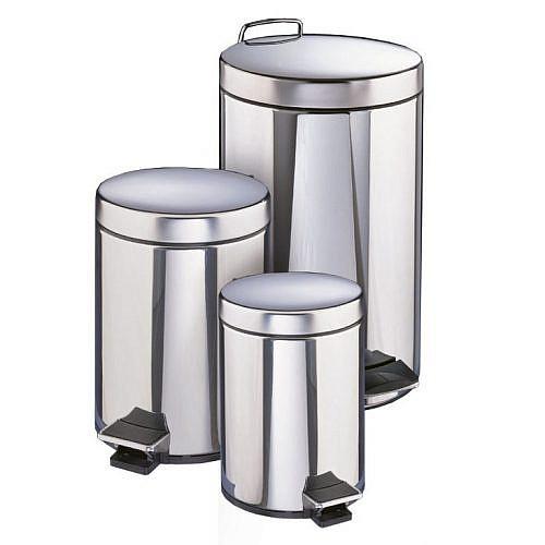 Контейнер для мусора Filmop из нержавеющей стали (12 литров, с педалью)