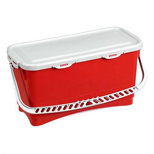 Ведро пластиковое Filmop Top-Down с крышкой (20 литров, красное)